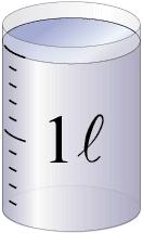 水のかさを測るドリル